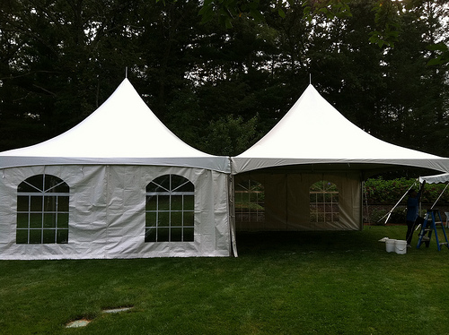 20x40 Frame Tent with Sides Image