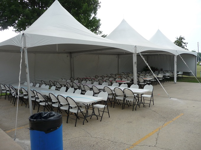 20x60 Frame Tent with Sides Image
